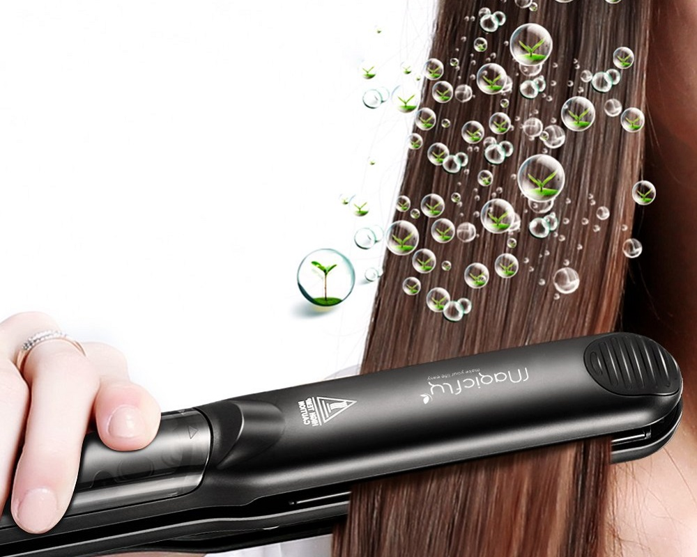 magicfly professional salon steam hair straightener