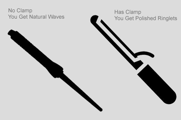 difference between curling iron and curling wand