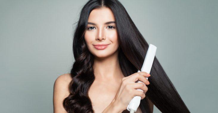 Titanium Hair Straightening Flat Iron