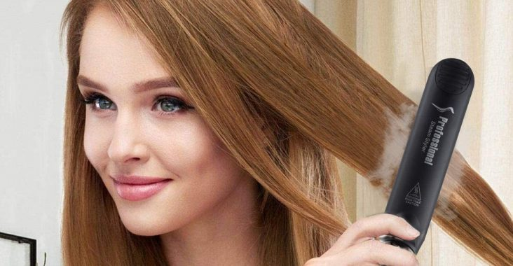 steam hair straightener flat iron