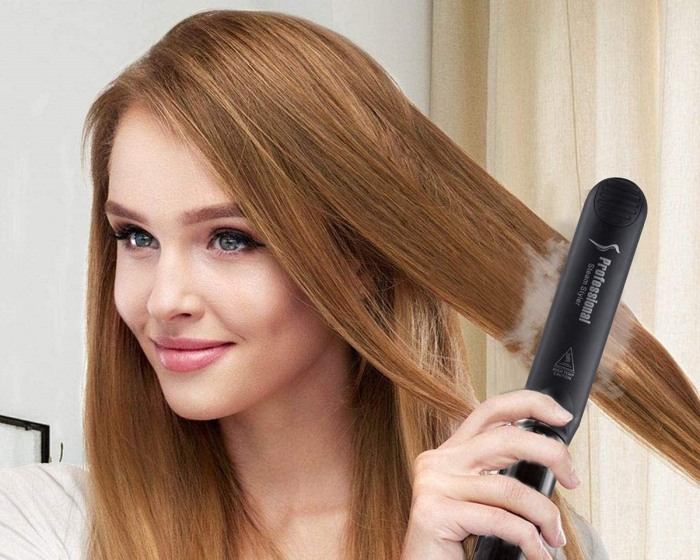 steam hair straightener flat iron