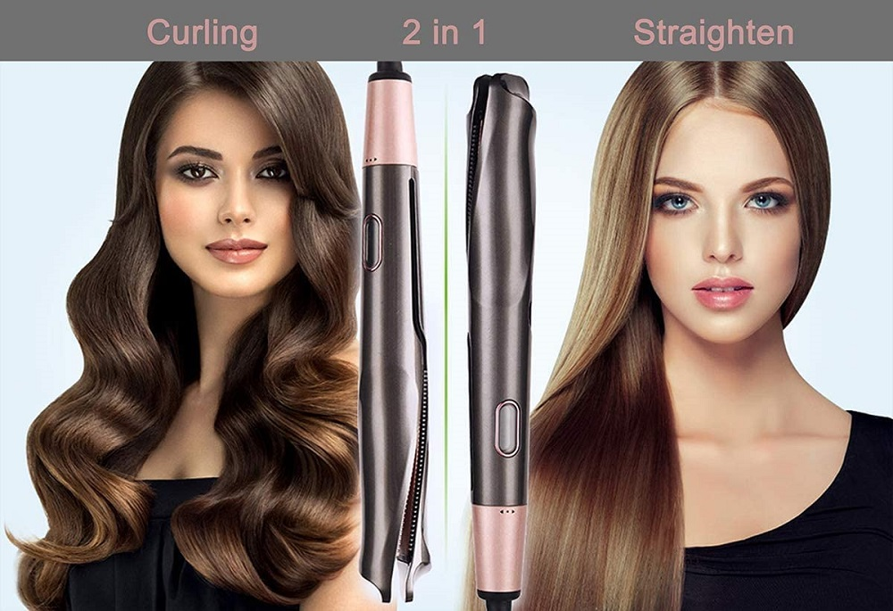 2 in 1 Twist Straightener Curling Iron