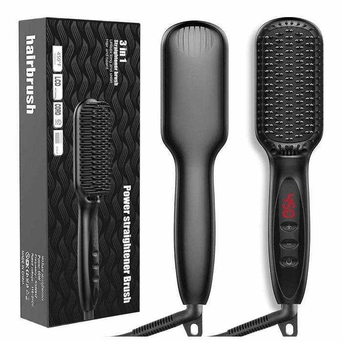 JUMPHIGH Hair Straightener Brush