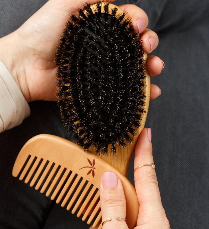 Belula Natural Bristles Brush Set for Thin and Fine Hair