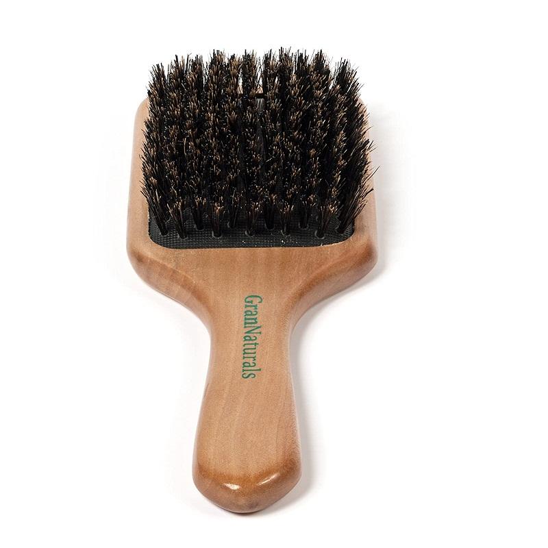 GranNaturals Boar Bristle Hair Brush for Thin Hair