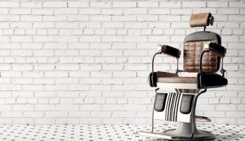 Hydraulic reclining barber chair