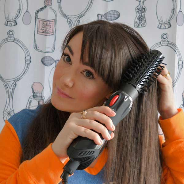 hot air brush for thick hair