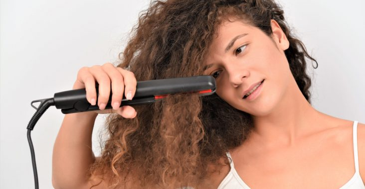best flat iron for thick curly hair