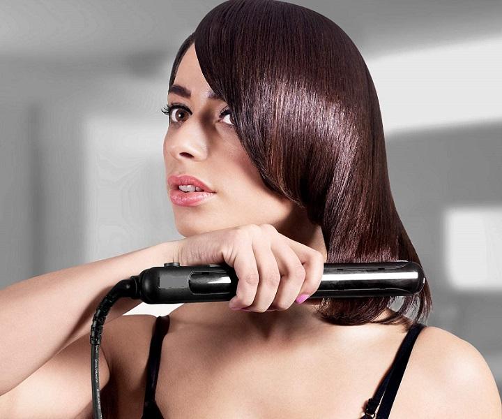 flat iron for short hair