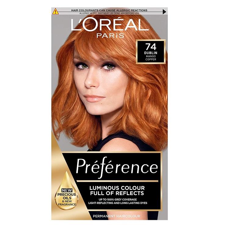 L'Oreal Preference Infinia 74 Mango Intense Copper Hair Dye