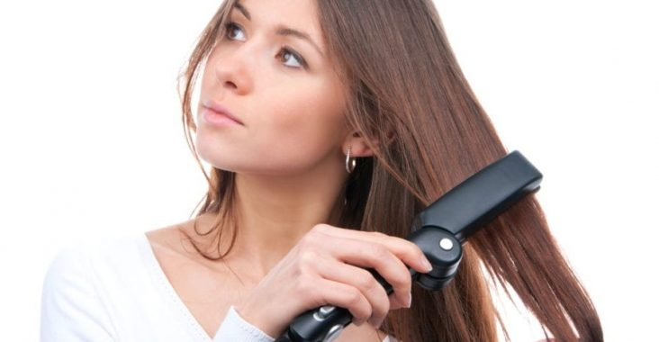 can you flat iron wet hair