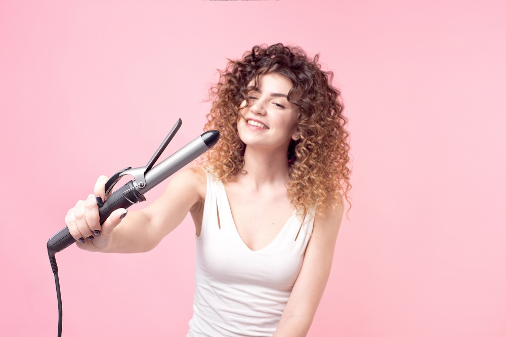 curling iron with clamps