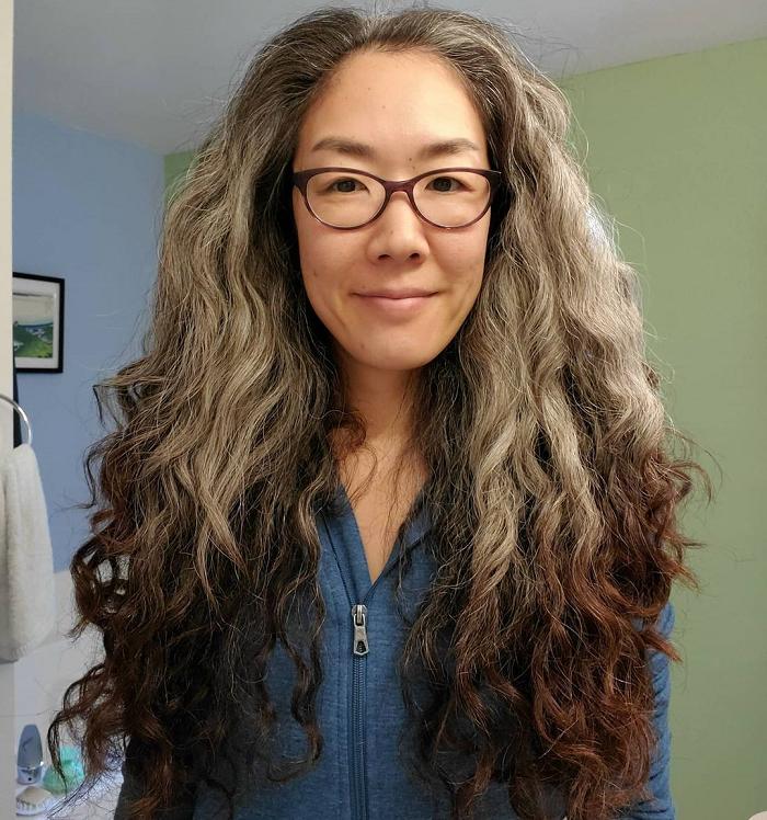 asian curly hair