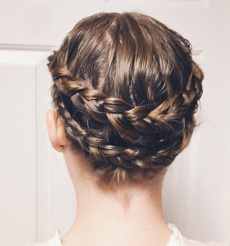 braided style for fine hair