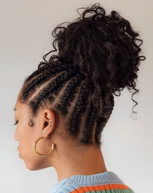 bun for thick curly hair