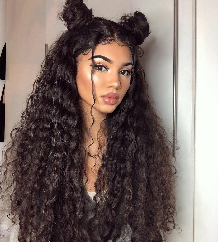 long thick curly hair