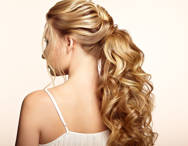 ponytail for thick curly hair