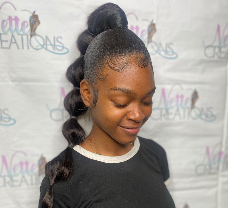 straight hairstyle for black girl