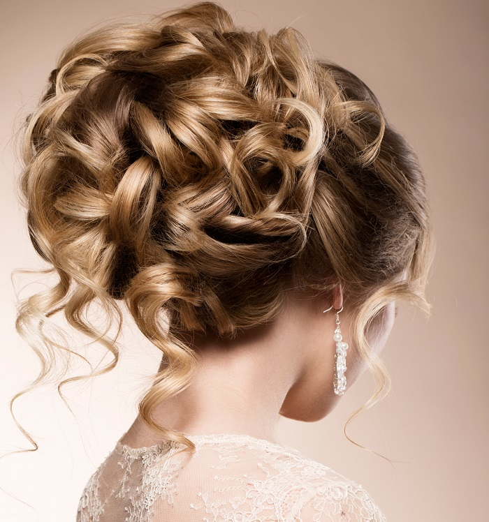 updo with curling iron