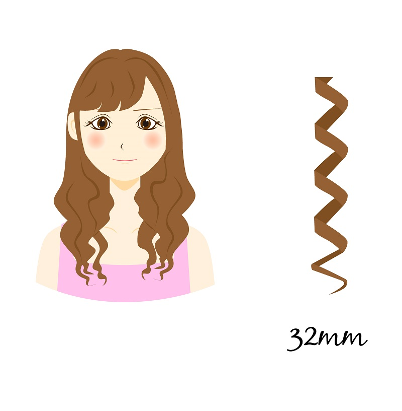 32mm curling iron size
