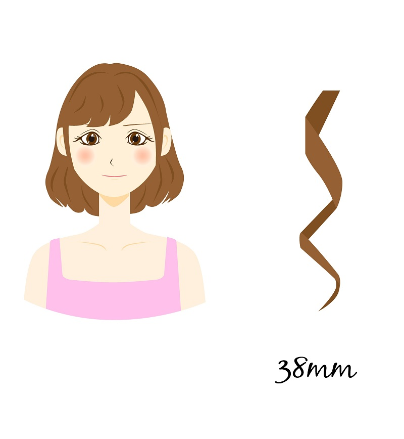 38mm curling iron size