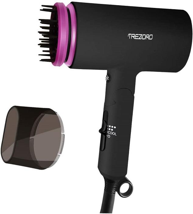 TREZORO Professional Ionic Portable Folding Hair Dryer