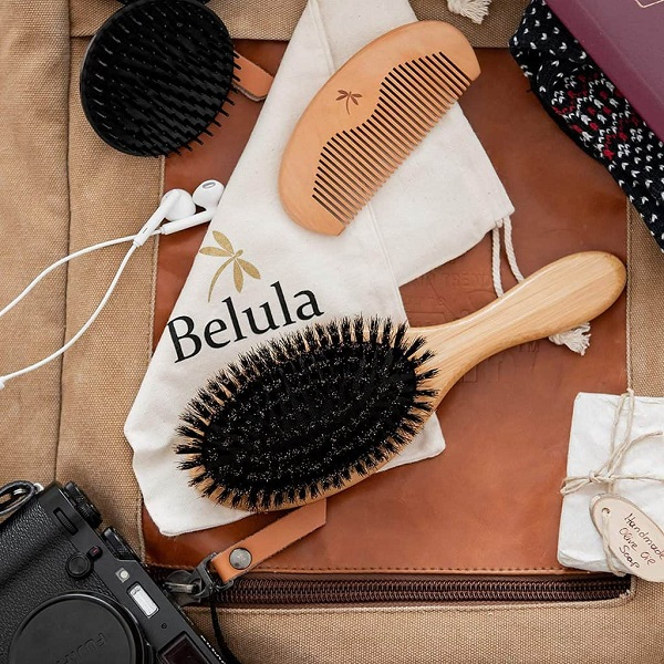 Belula Boar Bristle Hair Brush for Men