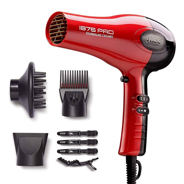 KISS Ceramic Hair Dryer with Attachments
