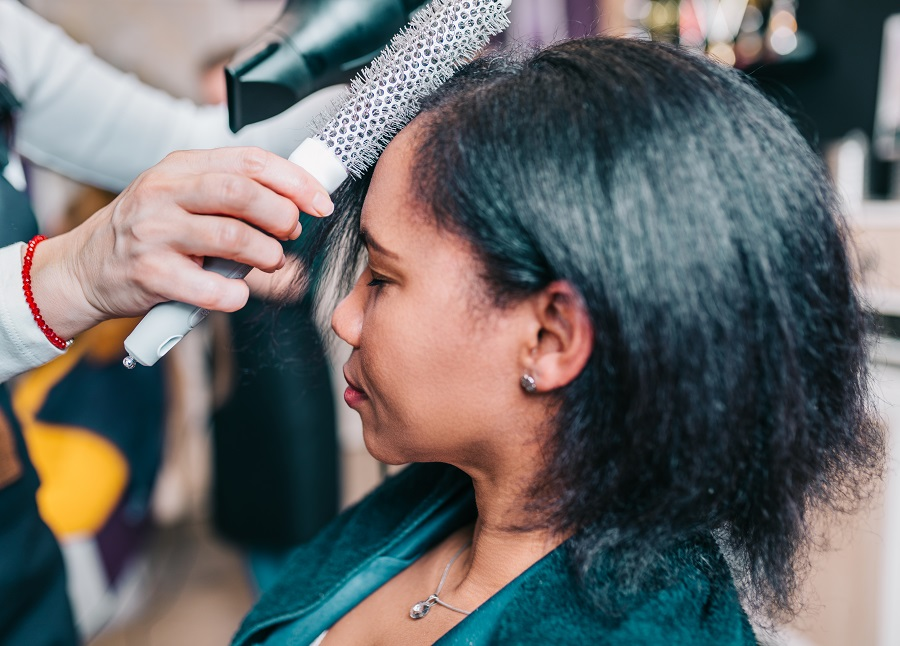 Blow-Dry Your Hair Flat-Ironed Natural Hair