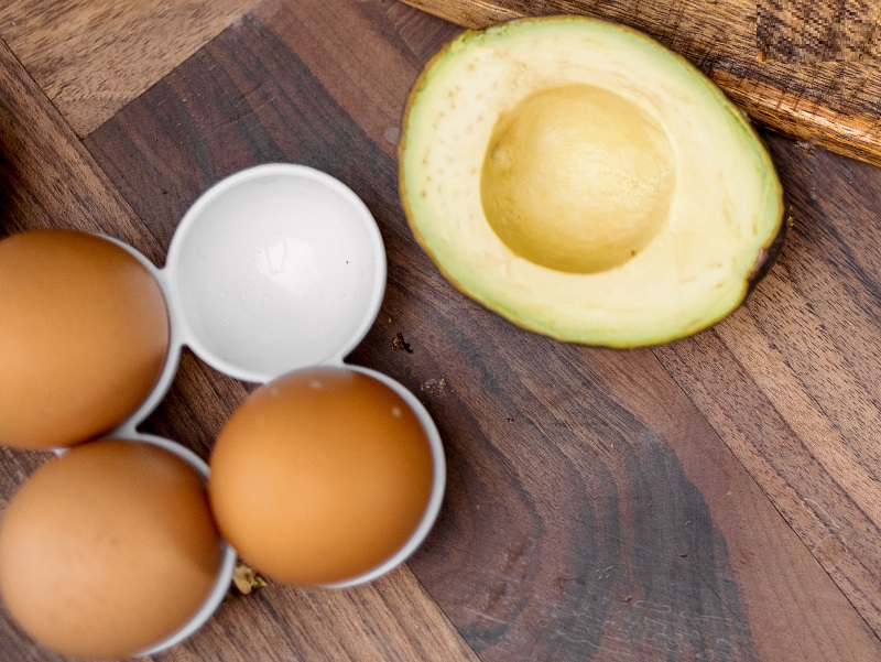 avocado and eggs for for bad perm hair