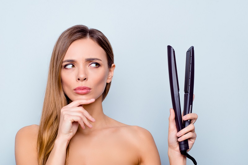 bad smell from flat iron