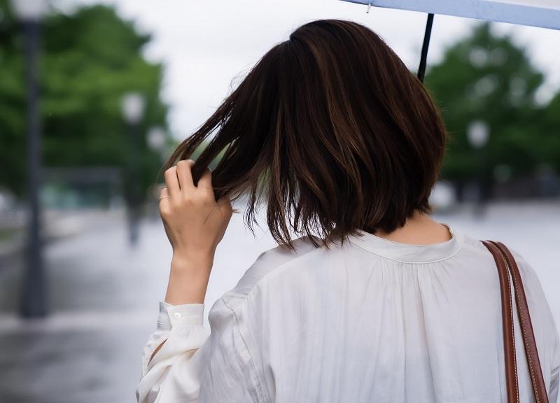 damaged flat ironed hair