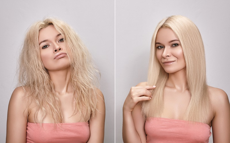 straightening treatment for bad permed hair